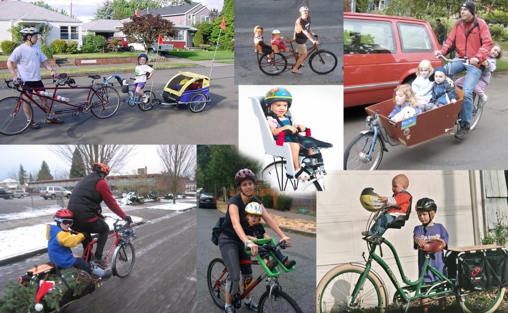 babies on a bike