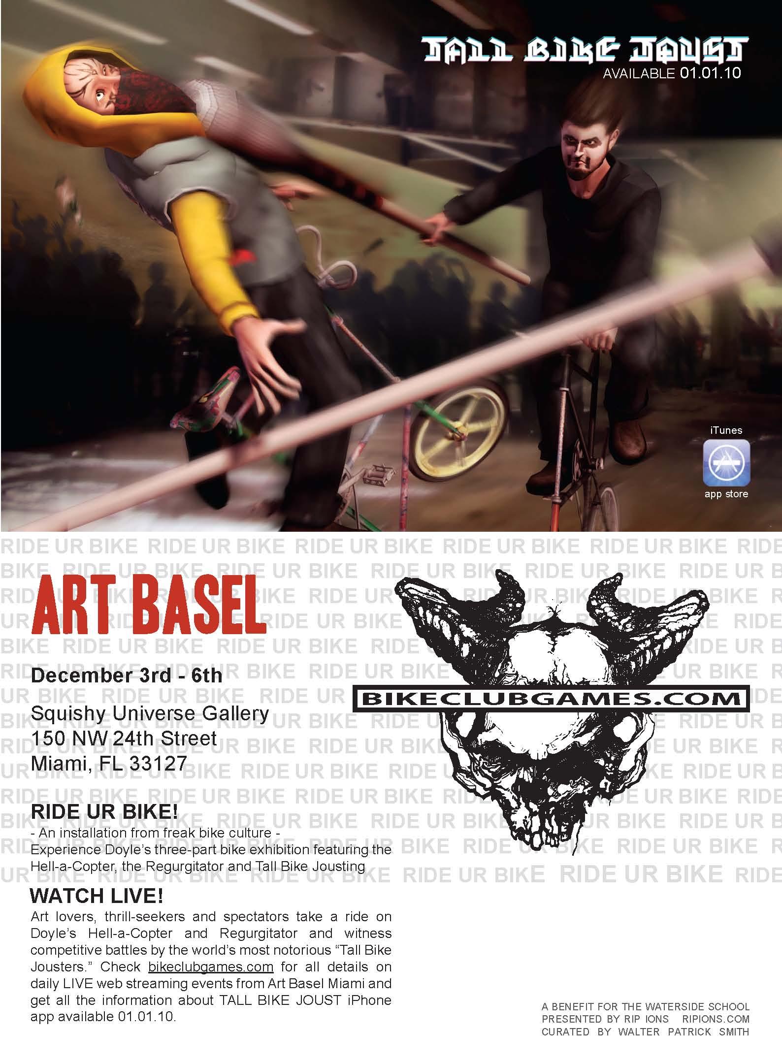 Bike Club Postcard Art Basel