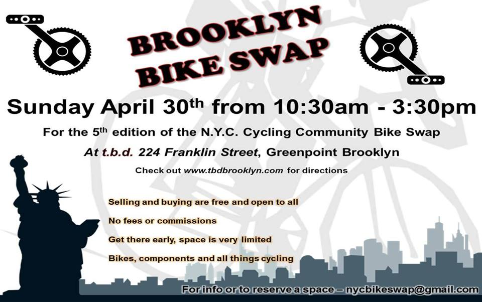 Brooklyn Bike Swap Flyer
